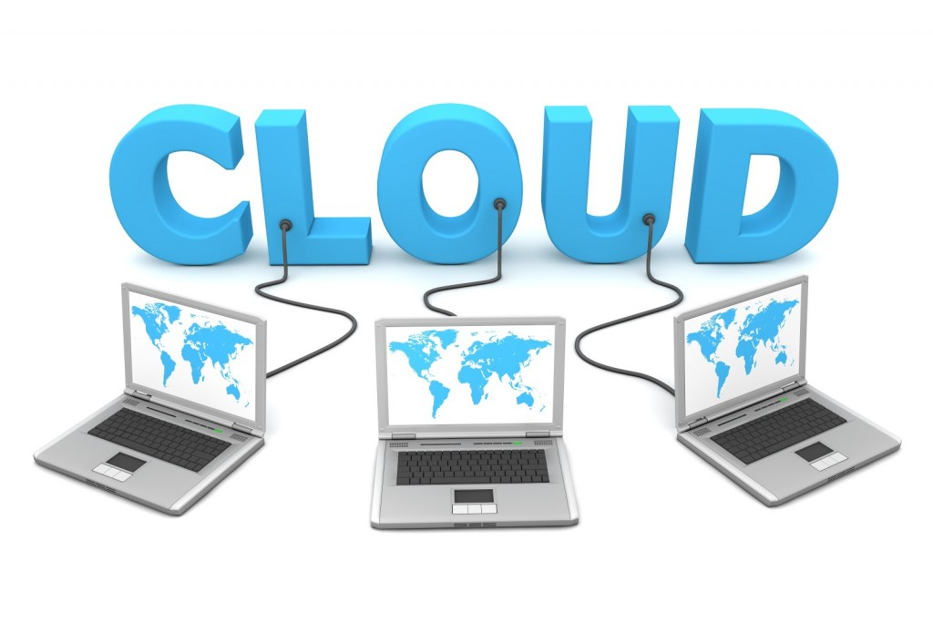 Cloud-with-three-laptops-connected-to-it